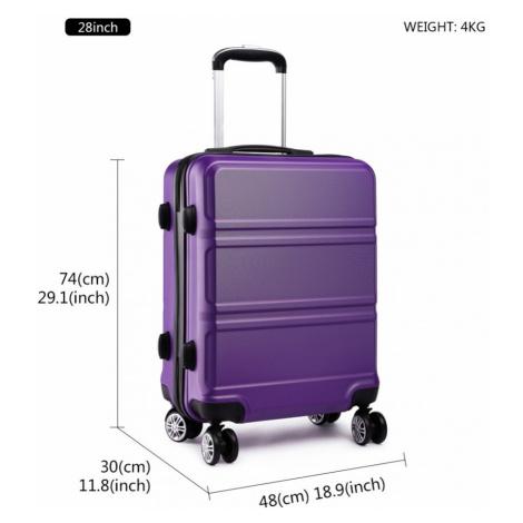 Fialový cestovní velký kufr se zámkem a otočnými kolečky Perfei Lulu Bags