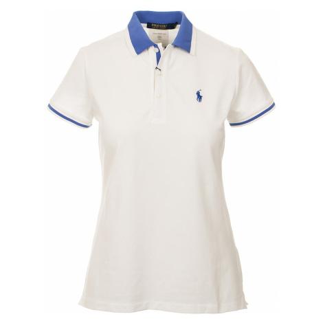 Ralph Lauren polo Golf dámské tričko bílé s modrou