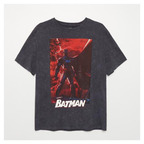 Cropp - Tričko s potiskem Batman - Šedá