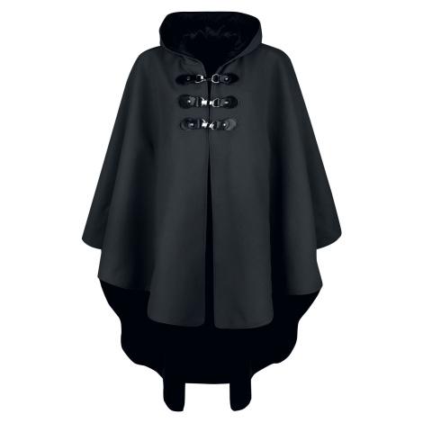 Gothicana by EMP Černý plášť s kapucí plášt černá