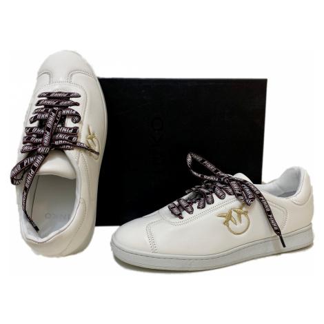 Bílé kožené tenisky - PINKO