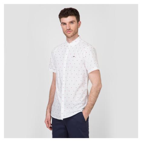 Tommy Hilfiger pánská bílá košile se vzorem