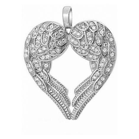OLIVIE ANDĚLSKÉ SRDCE stříbrný náhrdelník 4130