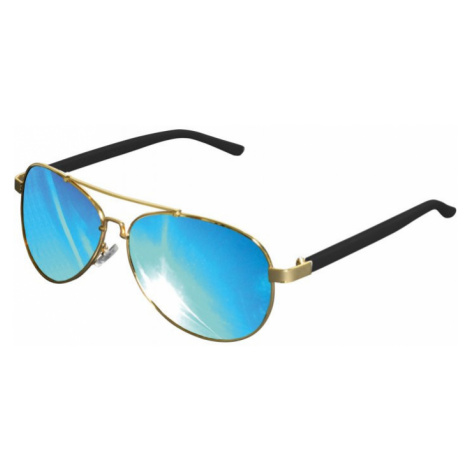 Sunglasses Mumbo Mirror - gold/blue Urban Classics