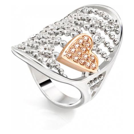 Morellato Ocelový bicolor prsten Cuoremio SADA09