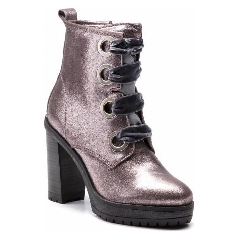 Novinka -26 % Polokozačky TOMMY JEANS - Metallic Lace Up Hee EN0EN00315  Steel Grey 039 Tommy Hilfiger a8c100715a