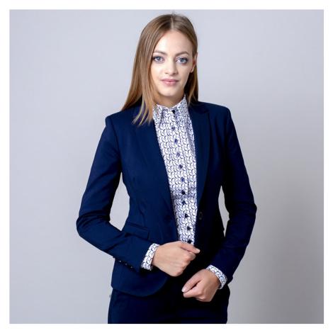 Dámské sako Long Size tmavě modré barvy 12137 Willsoor