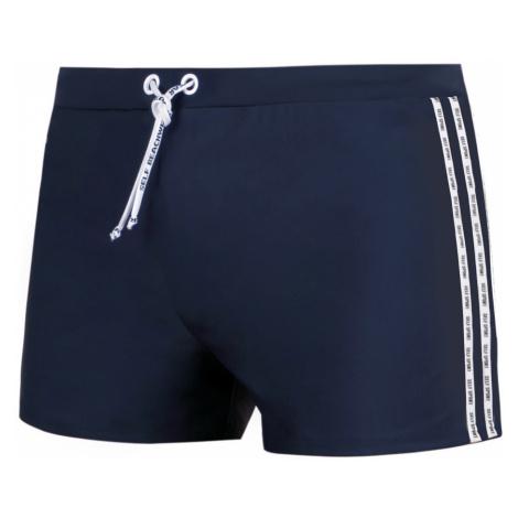 Pánské plavky boxerky Self S 88T 3XL-6XL modrá