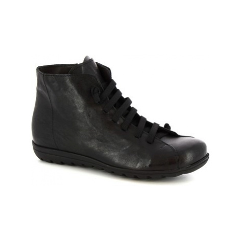 Leonardo Shoes 2177 STROPICCIATO NERO Černá