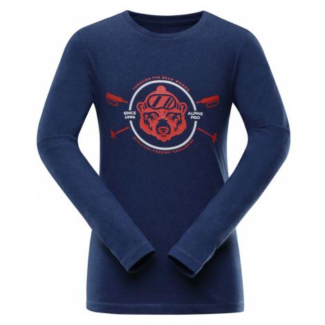 ALPINE PRO TEOFILO 8 Dětské triko s dlouhým rukávem KTSP200682 nautical blue