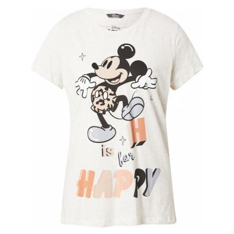 PRINCESS GOES HOLLYWOOD Tričko 'Disney Mickey Happy' světle šedá / černá / lososová / světlemodr