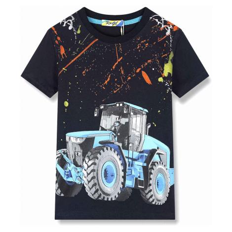 Chlapecké triko - KUGO LC5965, tmavě modrá