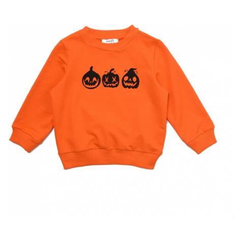 Trendyol Orange Halloween Printed Girl Knitted Slim Sweatshirt