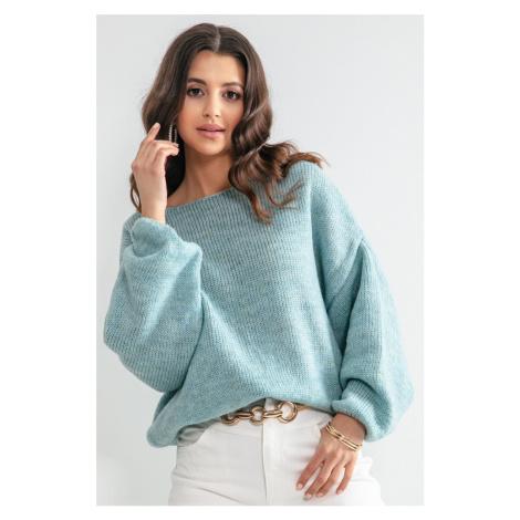 Světle modrý pulovr F1159 Fobya