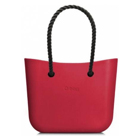 O bag kabelka MINI Ciliegia s černými dlouhými provazy