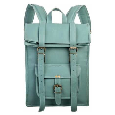Bagind Rollin Ocean - Dámský i pánský kožený batoh světle modrý, ruční výroba, český design