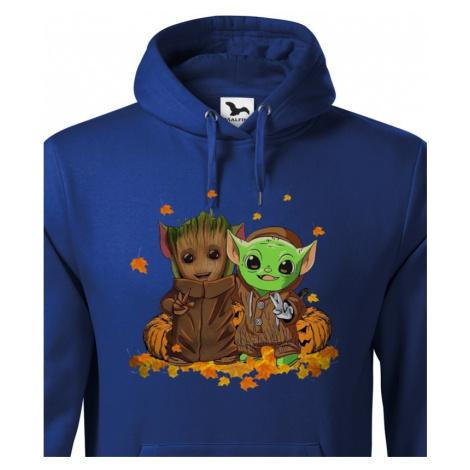 Pánska mikina Mistr Yoda a Groot - ideální pro každého fanouška BezvaTriko
