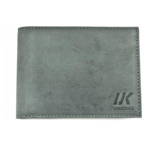 Pánská kožená peněženka z pravé kůže LumberJack - šedá