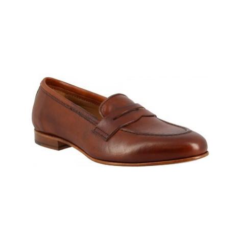 Leonardo Shoes TOR04 MONTONE CUOIO Hnědá