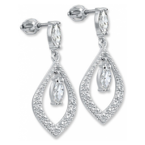 Brilio Silver Stříbrné náušnice s krystaly 001 04