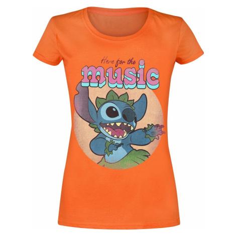 Lilo & Stitch Here For The Music dívcí tricko oranžová