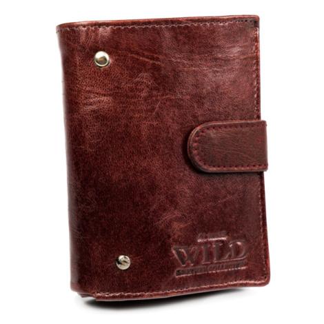 Malá pánská kožená peněženka s opaskem Always Wild