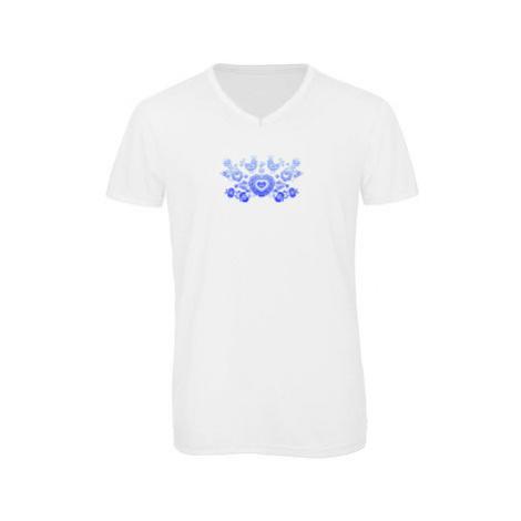 Pánské triko s výstřihem do V Slovácký cibulákový vzor
