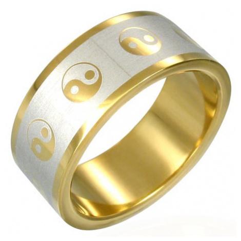Pozlacený prsten Jin-Jang Šperky eshop