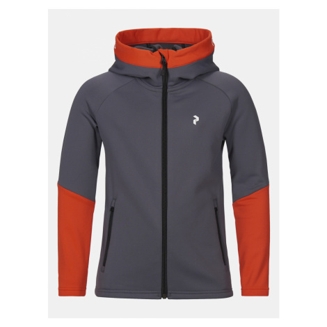 Mikina Peak Performance Jr Rider Zip Hood - Šedá