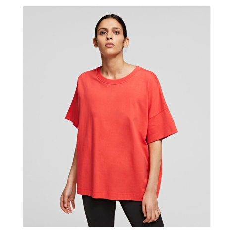 Tričko Karl Lagerfeld Relaxed Fit T-Shirt - Oranžová