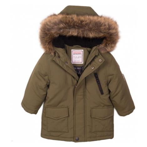 Kabát chlapecký Parka s chlupatou podšívkou, Minoti, Loud 1, khaki