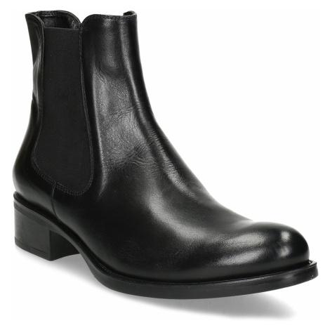 Dámská kožená černá Chelsea obuv Baťa
