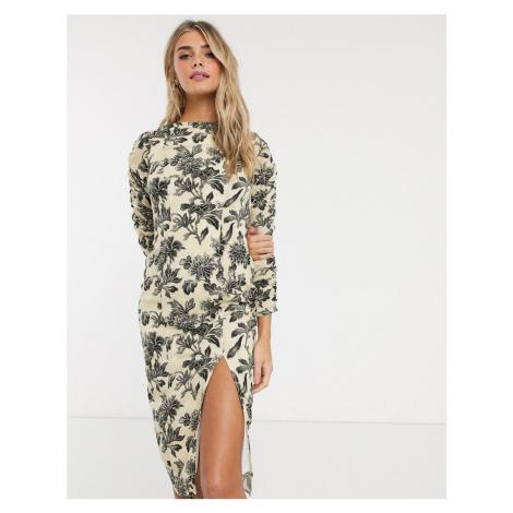 Hope & Ivy pencil dress in wallpaper floral-Multi