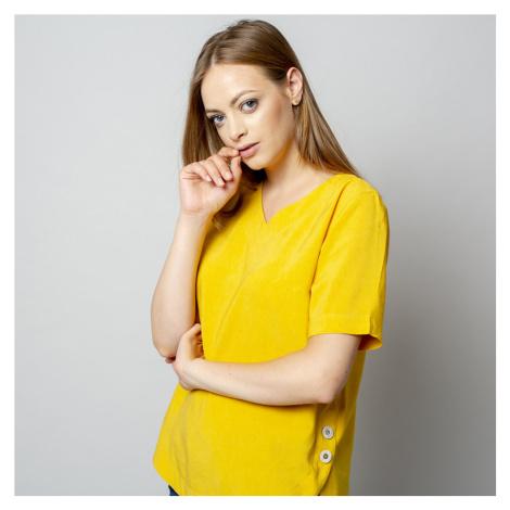 Dámské tričko žluté barvy s přídavkem lnu 10913 Willsoor