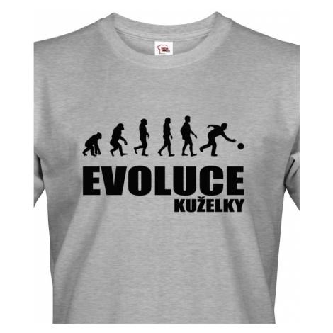 Vtipné tričko s potiskem pro kuželkáře - Evoluce kuželky