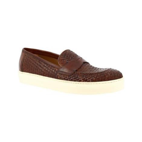 Leonardo Shoes 1087_1 VITELLO CUOIO Hnědá