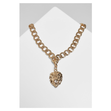 Lion Basic Necklace - gold Urban Classics
