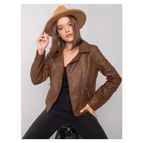 Brown eco-leather jacket Fashionhunters