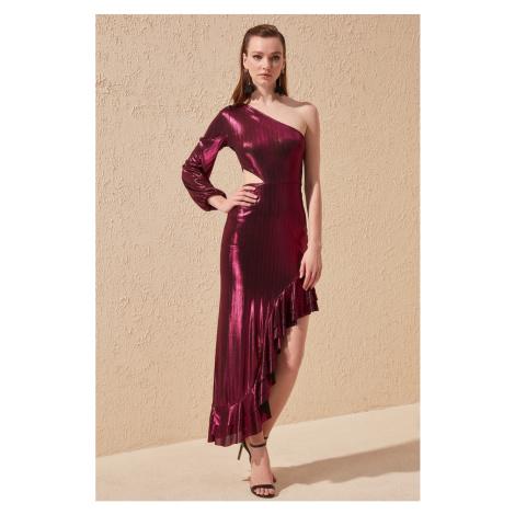 Trendyol Fuchsia Flywheel Evening Dress & Graduation Dress