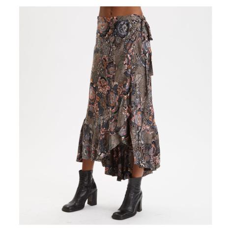 Sukně Odd Molly Extravaganca Wrap Skirt - Hnědá