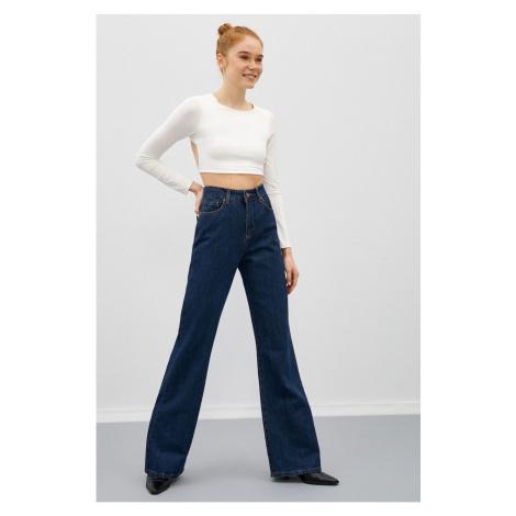 Koton Women Medium Indigo Trousers