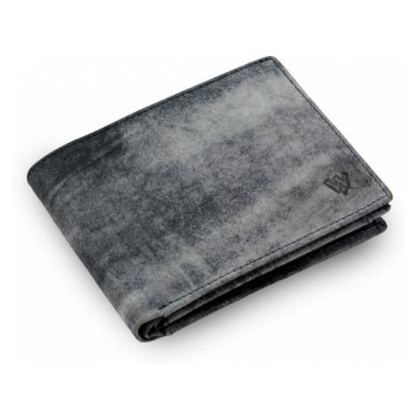 Modrá pánská kožená peněženka ve stylu JEANS Donovan Arwel