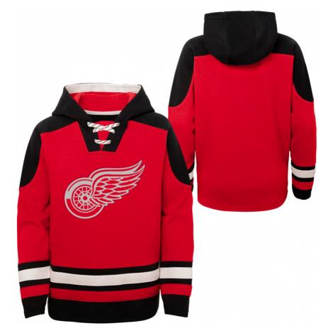 Dětská hokejová mikina s kapucí Outerstuff Ageless must have NHL Detroit Red Wings