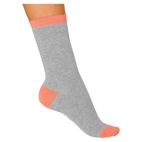 Blancheporte Ponožky, sada 5 párů šedý melír