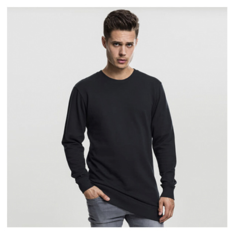 Urban Classics Long Light Fleece Crewneck black