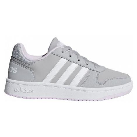 adidas HOOPS 2.0 K šedá - Dětské volnočasové boty
