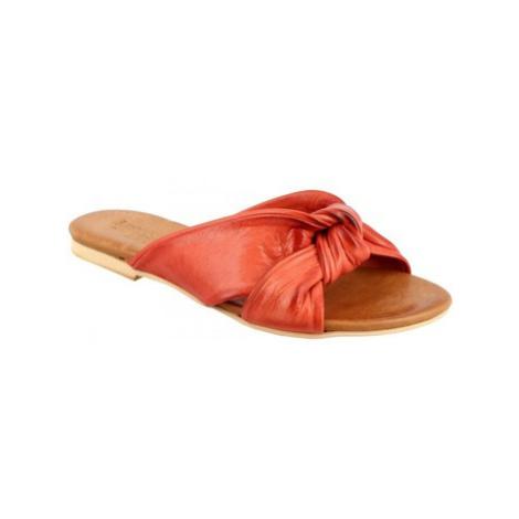 Leonardo Shoes PC139 CAPRA ROSSO Červená