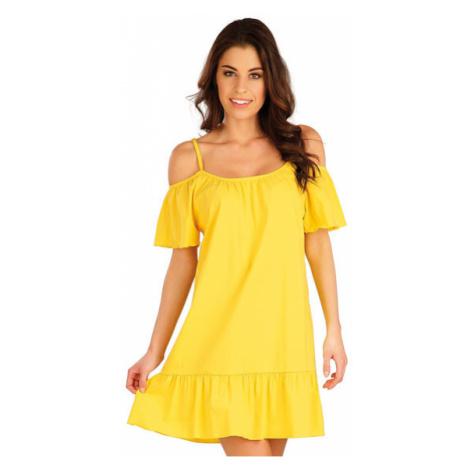 Dámské šaty na ramínka Litex 5A089   žlutá
