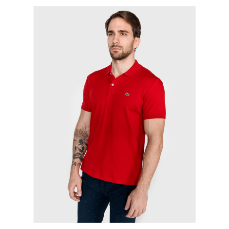 Polo triko Lacoste Červená
