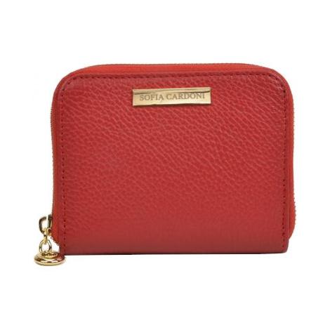Sofia Cardoni Dámská kožená peněženka AW19SC1566 Rosso
